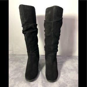Aldo Slouch Suede Wedge Boots 40